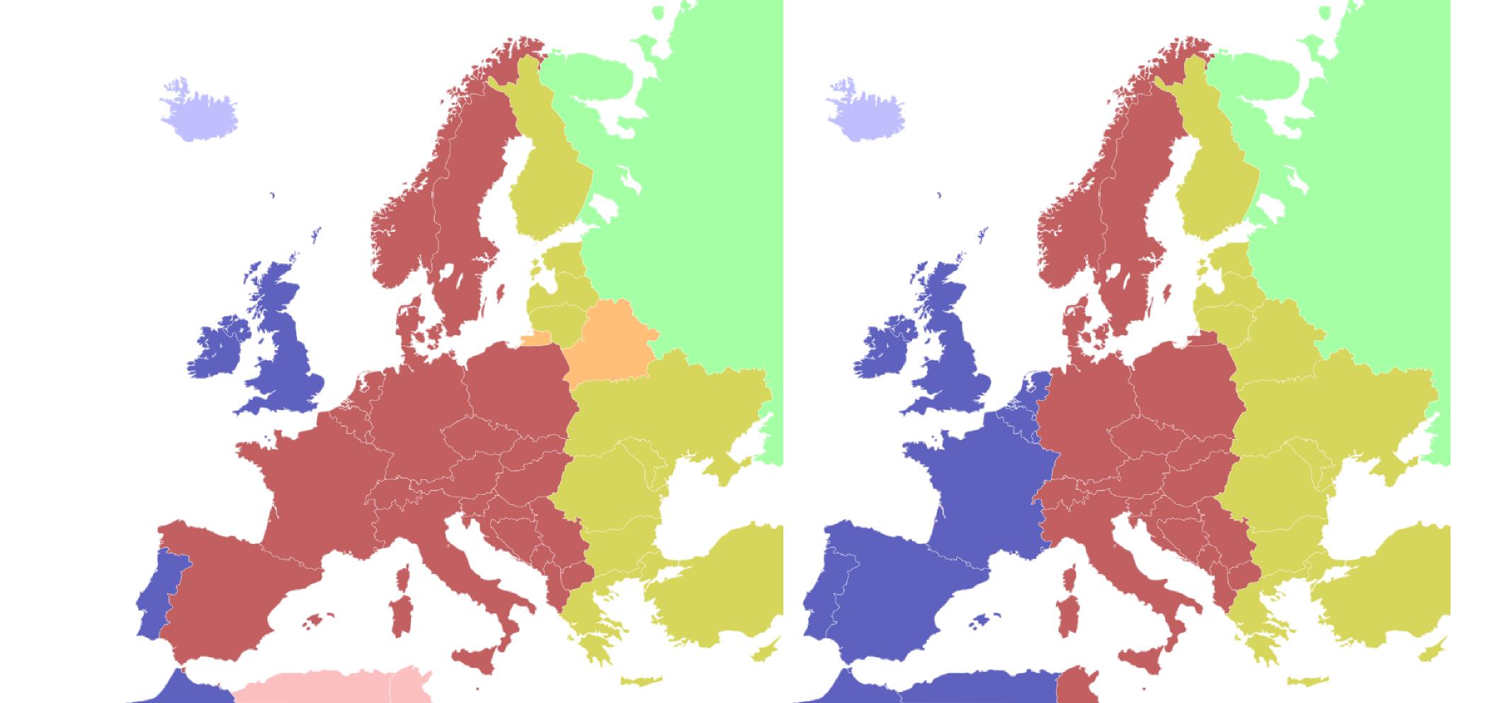 Husos horarios en Europa, los actuales y los correctos.
