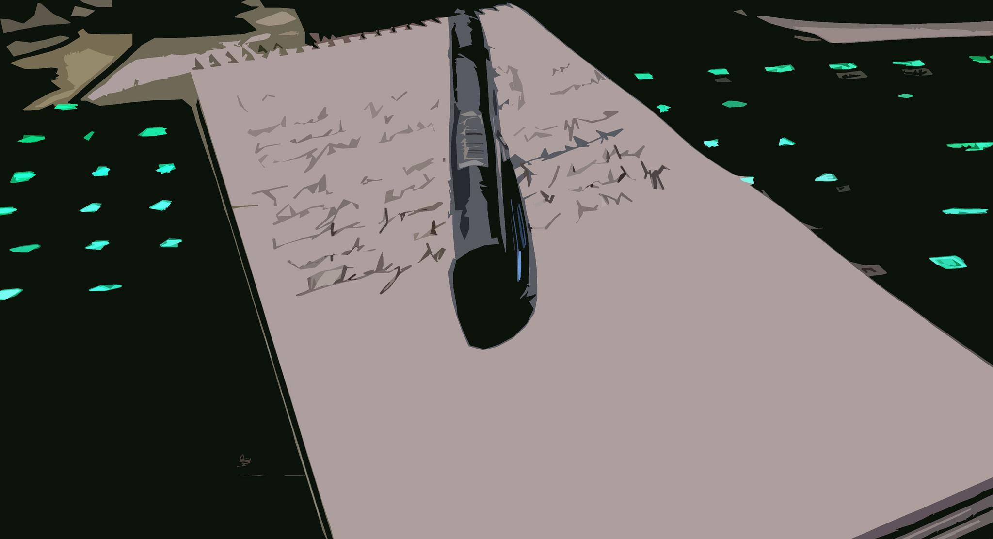 Periodismo - Un bloc con un bolígrafo encima
